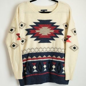 American Eagle Outfitters Aztec Women's Sweater L